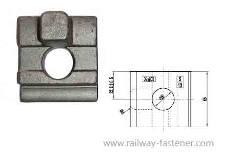 Rail clip for North Africa